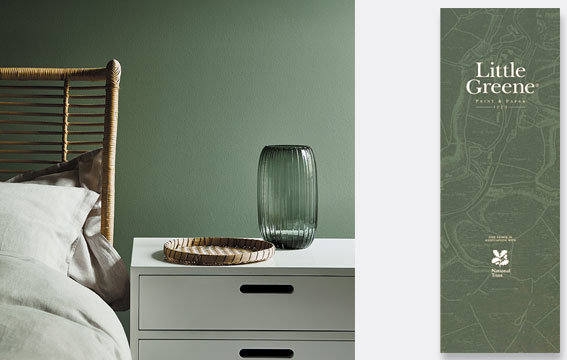 Farbkarte Little Greene Green