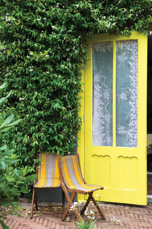 Farrow and Ball Yellowcake Door