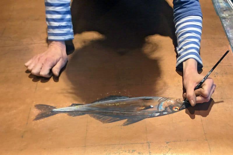 Handmade Tapete Fisch