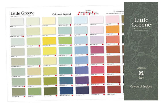 Little Greene Farbkarte Colours of England